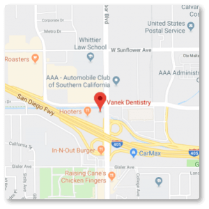 map showing location of vanek dentistry